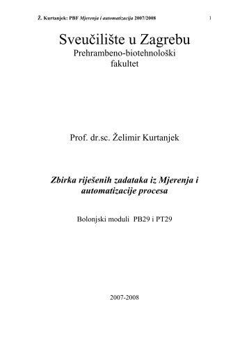 Zbirka rijesenih zadataka - PBF - Sveučilište u Zagrebu