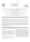 Effect of ultrasound treatment on solubility and f... - ResearchGate - Page 2