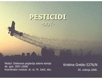 Pesticidi, Kristina Greblo - PBF