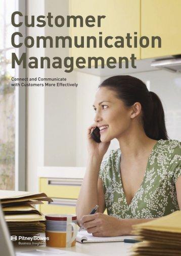 Customer Communication Management Brochure - Pitney Bowes ...