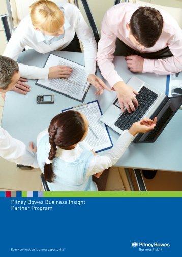 Partner Program brochure - Pitney Bowes Software