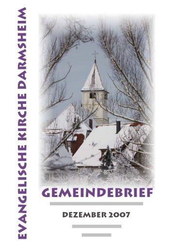 Gemeindebrief - Evangelische Kirchengemeinde Darmsheim