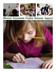 MO SW-PBS 2012 Annual Report - PBIS