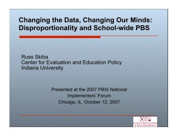 Disproportionality and - PBIS