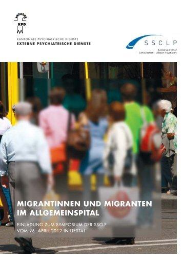 migrantinnen und migranten im allgemeinspital - Psychiatrie ...