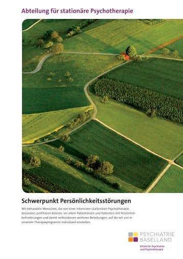 Flyer (PDF, 2.9 MB) - Psychiatrie Baselland PBL