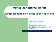 De impact van 50 jaar interne markt op de