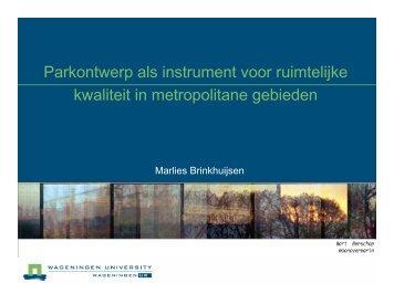 Parkontwerp als instrument voor ruimtelijke kwaliteit in ...