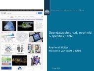 Opendatabeleid van de overheid en specifiek IenM. (pdf)