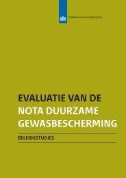 evaluatie van de nota duurzame gewasbescherming - Planbureau ...