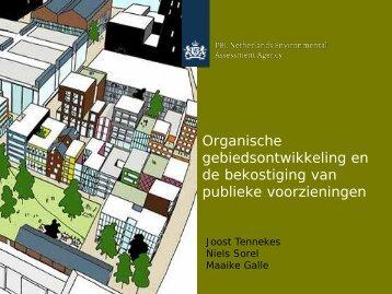 Organische gebiedsontwikkeling en de bekostiging van publieke ...