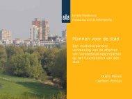 Plannen voor de stad. (pdf) - Planbureau voor de Leefomgeving