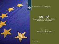 EU-RO. Europees beleid en de Ruimtelijke Ordening in Nederland.