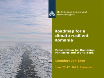 Roadmap for a climate resilient Romania