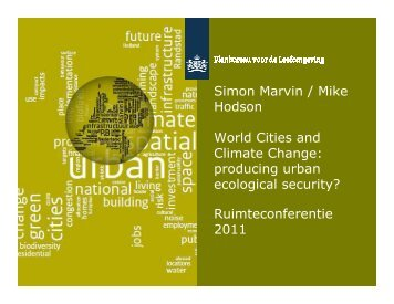 producing urban ecological security?