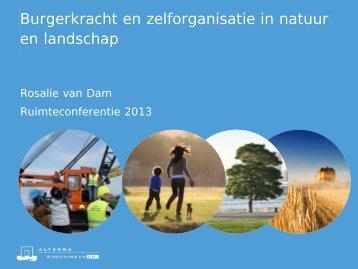 Burgerkracht en zelforganisatie in natuur en landschap. (pdf)