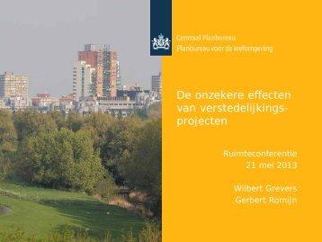 De onzekere effecten van verstedelijkingsprojecten. (pdf)