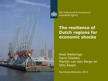 The Resistance of Dutch Regions to Economic Shocks