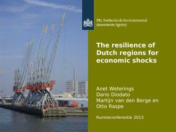 The Resistance of Dutch Regions to Economic Shocks