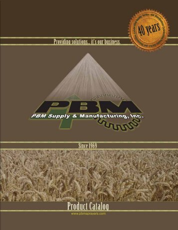 FULL PBM Catalog - Large File (30MB) - PBM Supply & Mfg.