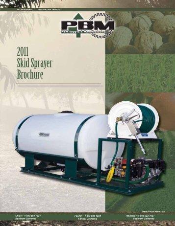 2011 Skid Sprayer Brochure - PBM Supply & Mfg.