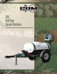 2011 Pull Type Sprayer Brochure - PBM Supply & Mfg.