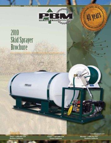 2010 Skid Sprayer Brochure - PBM Supply & Mfg.