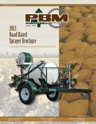 2013 Road Rated Sprayer Brochure - PBM Supply & Mfg.