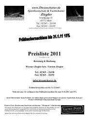 Preisliste 2011 - Dreamcharter