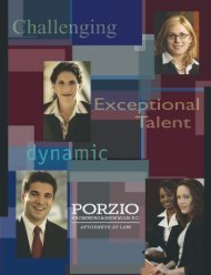 View a PDF of our Recruiting Brochure. - Porzio, Bromberg, and ...