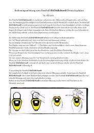 Bedienungsanleitung zum Paintball RADARchron ... - PBportal.de