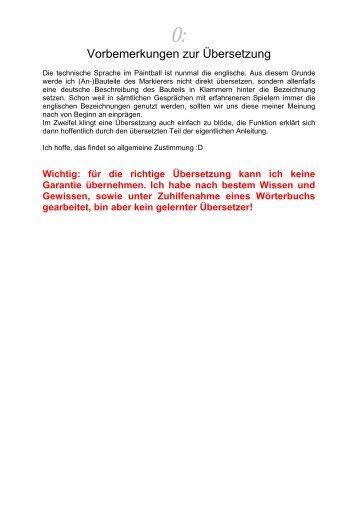 Vorbemerkungen zur Übersetzung - PBportal.de
