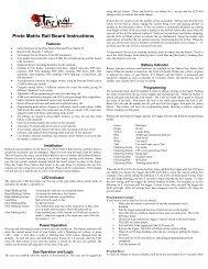 Proto Matrix Rail Board Instructions - Tadao Technologies