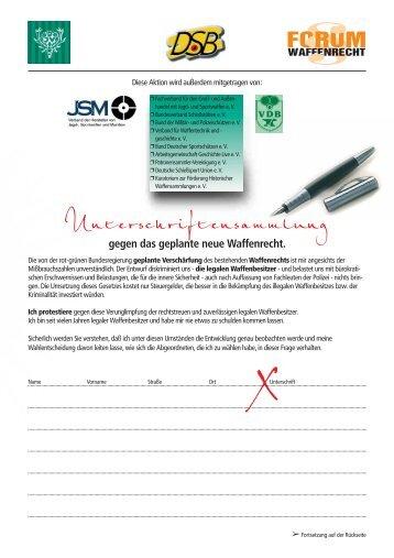 Unterschriftensammlung - PBportal.de