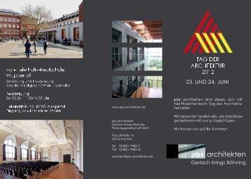 Flyer pbs architekten Tag der Architektur 2012 - PDF-Datei
