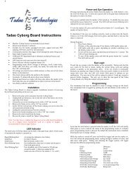 Tadao M5 Cyborg manual - Tadao Technologies