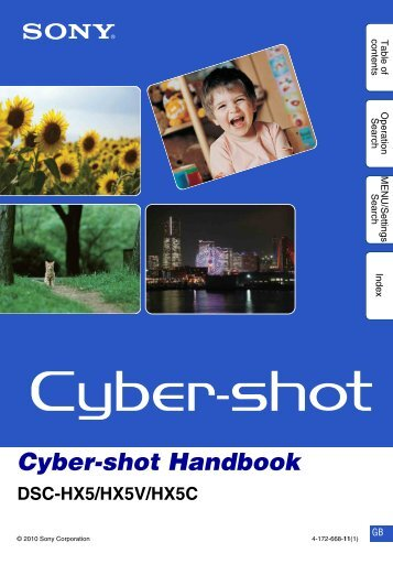 Cyber-shot Handbook - How To & Troubleshooting - Sony
