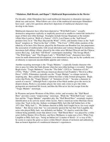 """""""Mulattoes, Half-Breeds, and Hapas"""": Multiracial ... - PBS"""