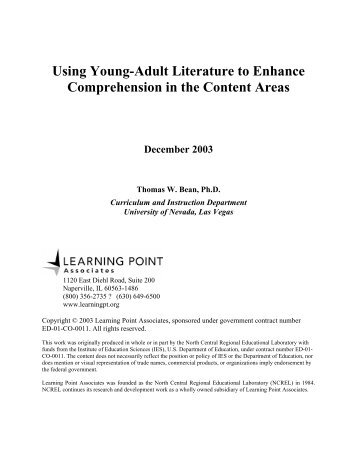 Using Young-Adult Literature to Enhance Comprehension in ... - PBS