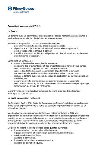 description de poste client confidentiel titre du poste
