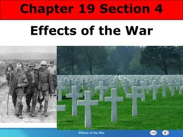 Chapter 19 Section 4 Effects of the War