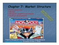 Chapter 7: Market Structure