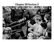 The War Divides America