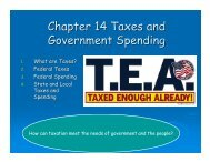 Taxes and Government Spending Power Point Notes - Phillipsburg ...