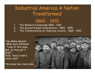 The Second Industrial Revolution Power Point Notes