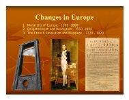 Enlightenment and Revolution, 1550