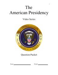 The American Presidency Video Questions