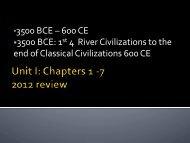 • 3500 BCE – 600 CE • 3500 BCE: 1st 4 River Civilizations to the