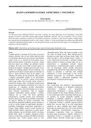 razina koordinacijske asimetrije u nogometu - Acta Kinesiologica
