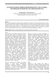 kanonički odnos morfoloških dimenzija i situacijsko - Acta ...